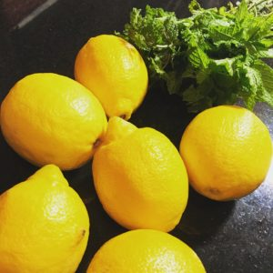 Lemons and Fresh Mint