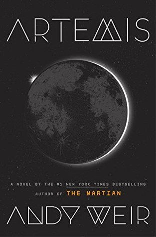 Artemis Book Cover, Andy Weir