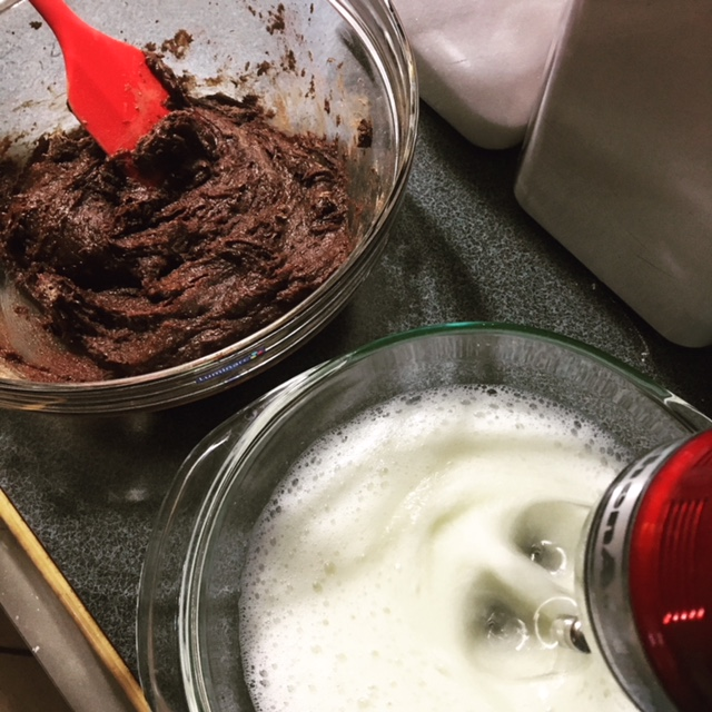 Egg Whites and Chocolate Cake Mix