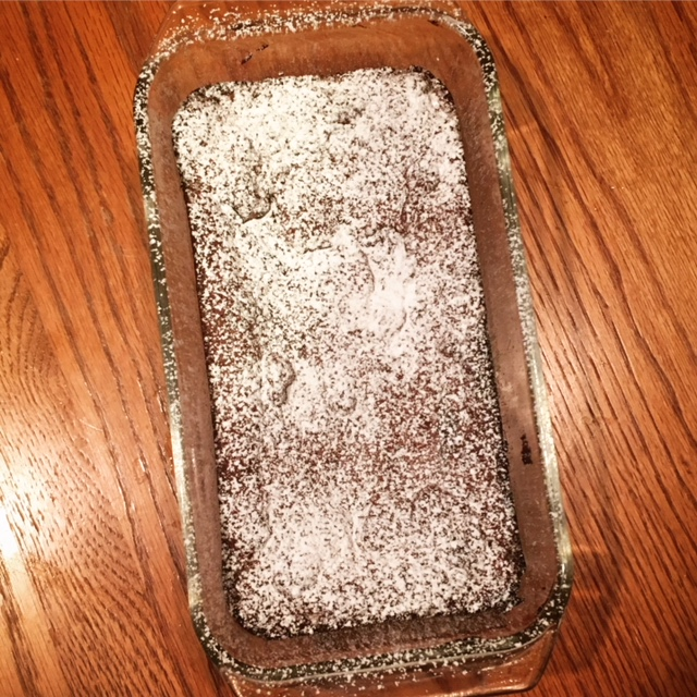 Chocolate Cake with Powdered Sugar