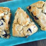 Lemon Blueberry Scones on Platter
