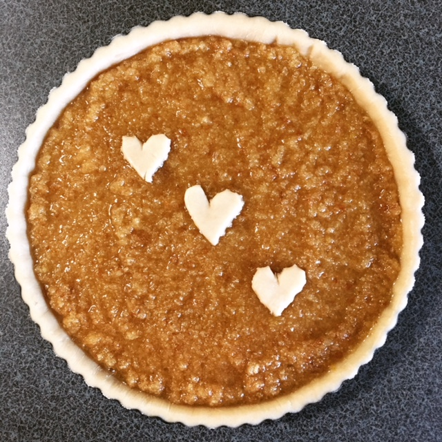 Treacle Tart with Hearts