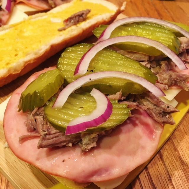 Open Cuban Sandwich