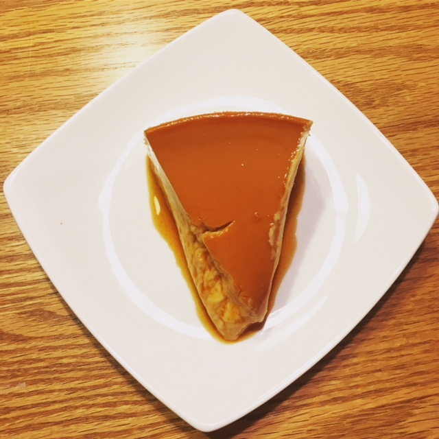 Slice of Caramel Flan
