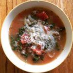 Kale Sausage Soup Bowl