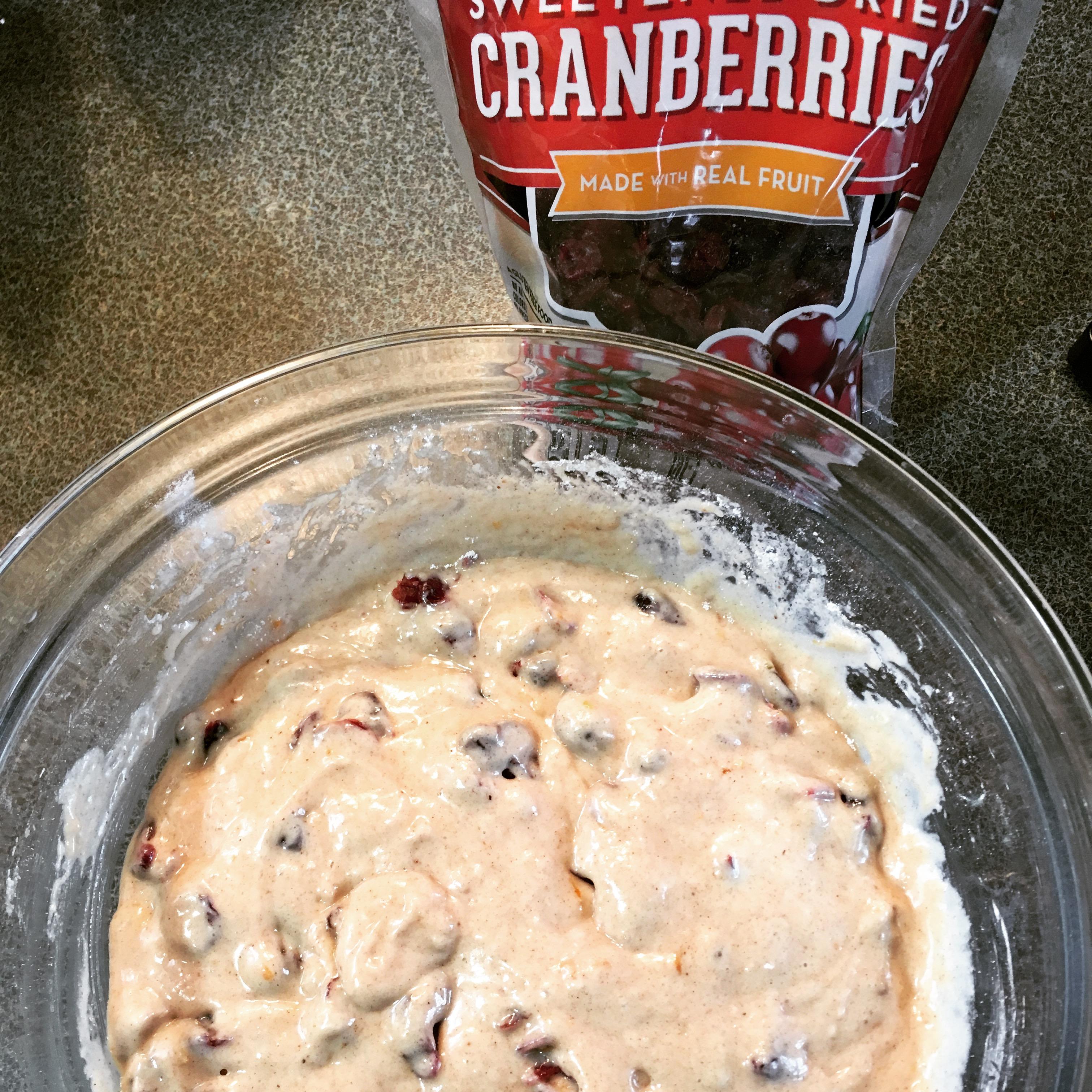Cranberry Muffin Batter