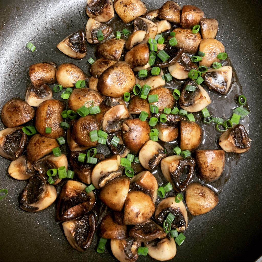 Sauteed Mushrooms with Scallions