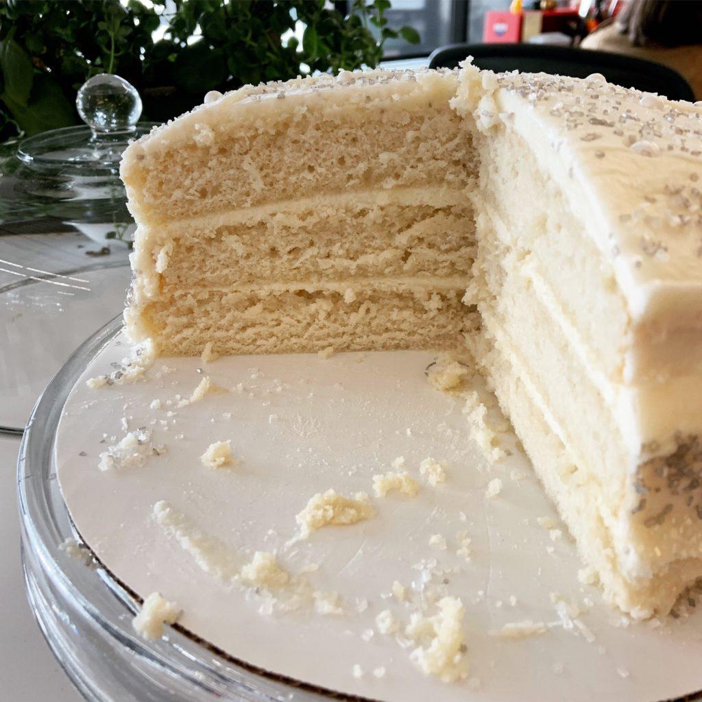 Three Layer Champagne Cake
