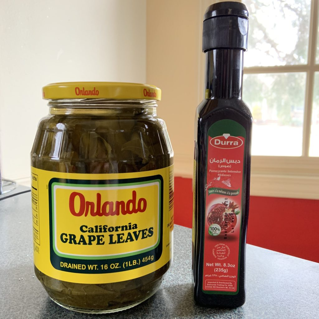 Grape Leaves and Pomegranate Molasses