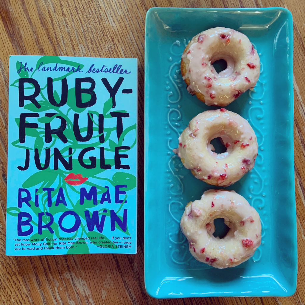 Strawberry Donuts inspired by Rubyfruit Jungle