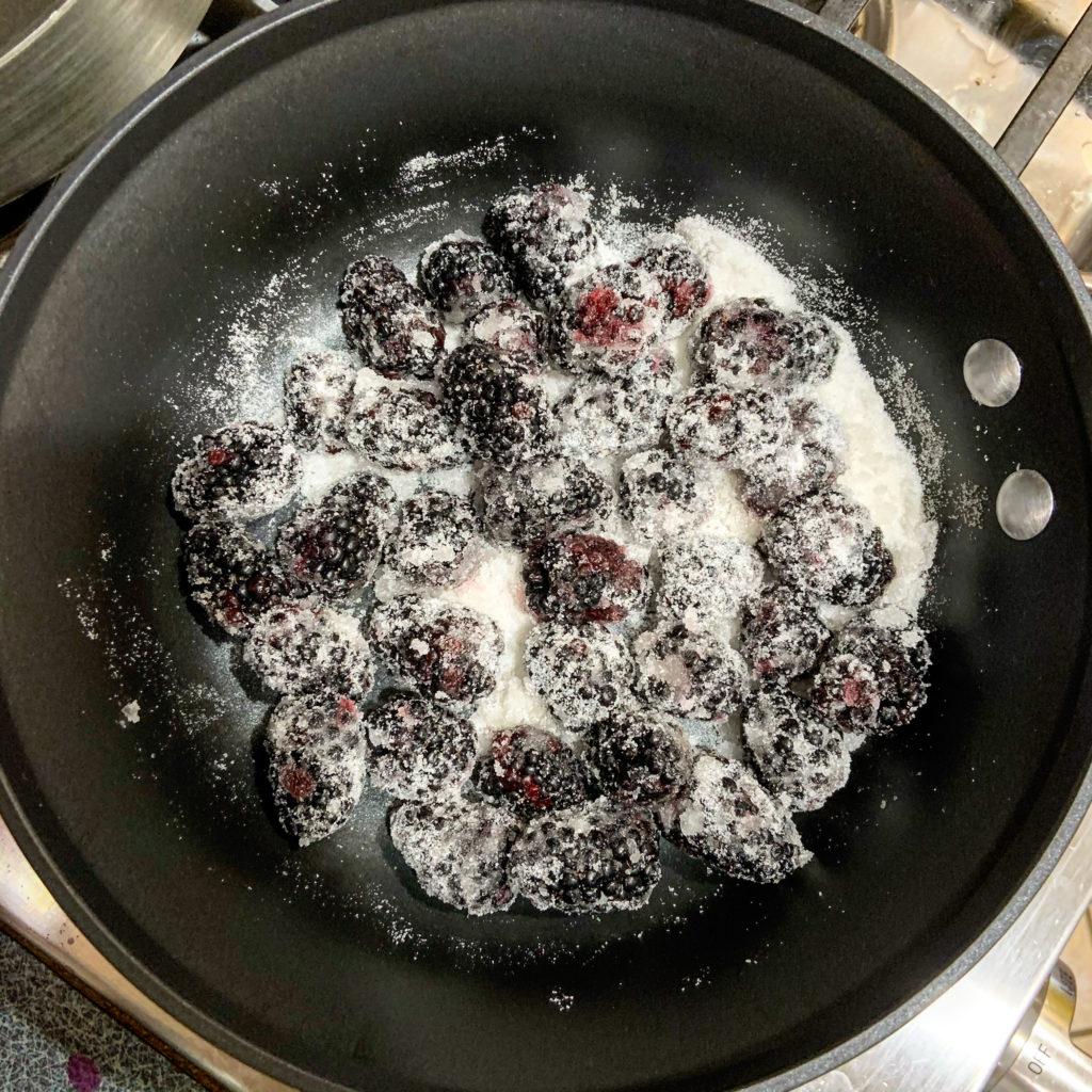 Blackberries and sugar