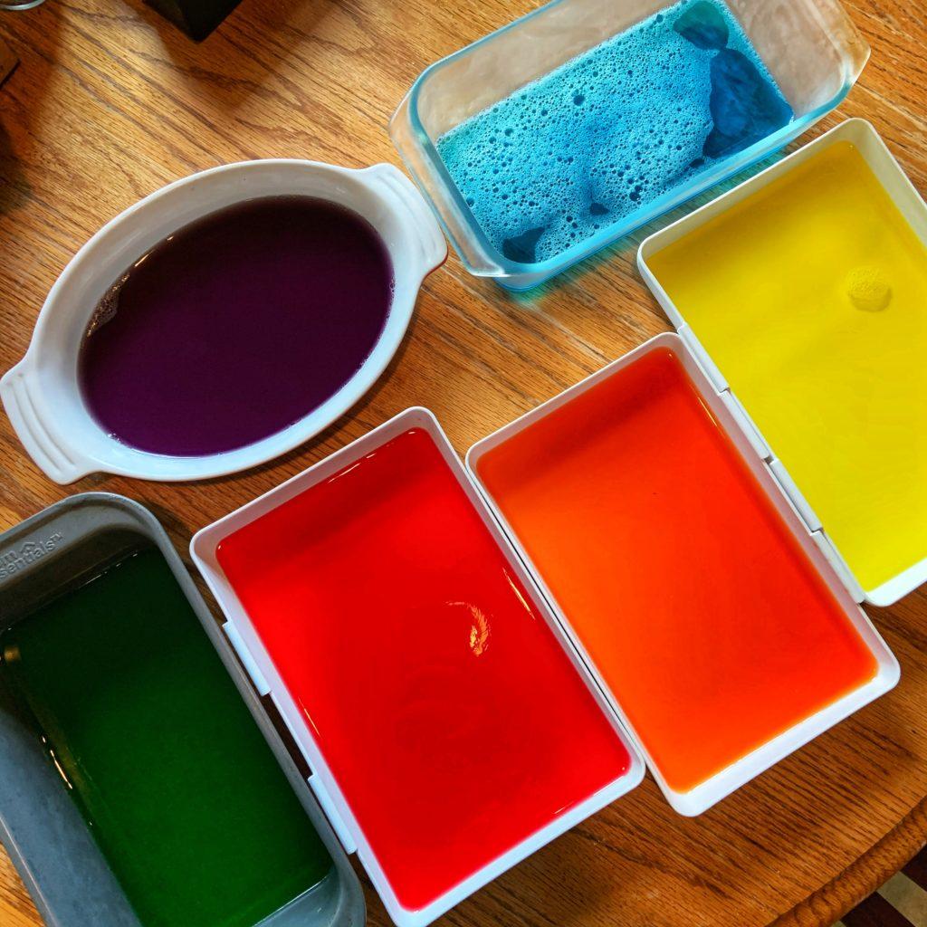 Jell-O rainbow