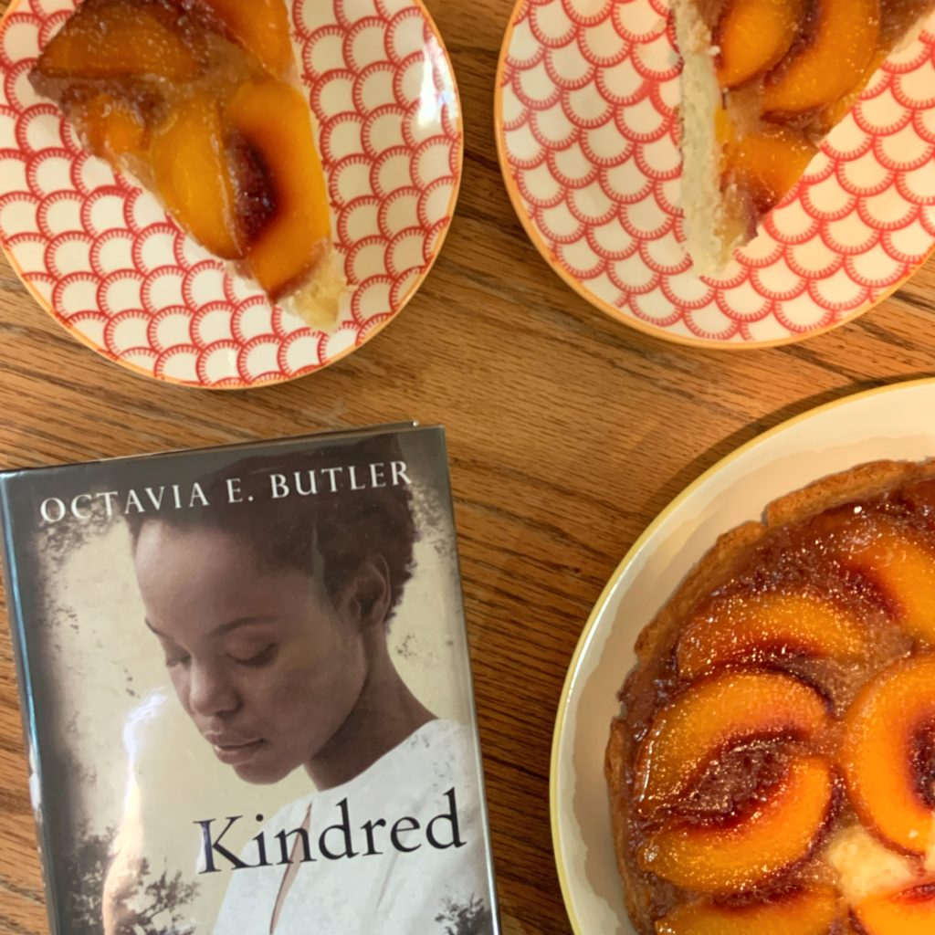 Peach Upside Down Cake inspired by Kindred