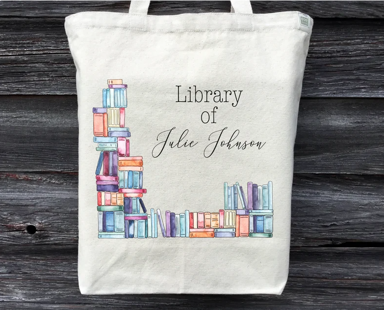 Personalized Bookish Tote