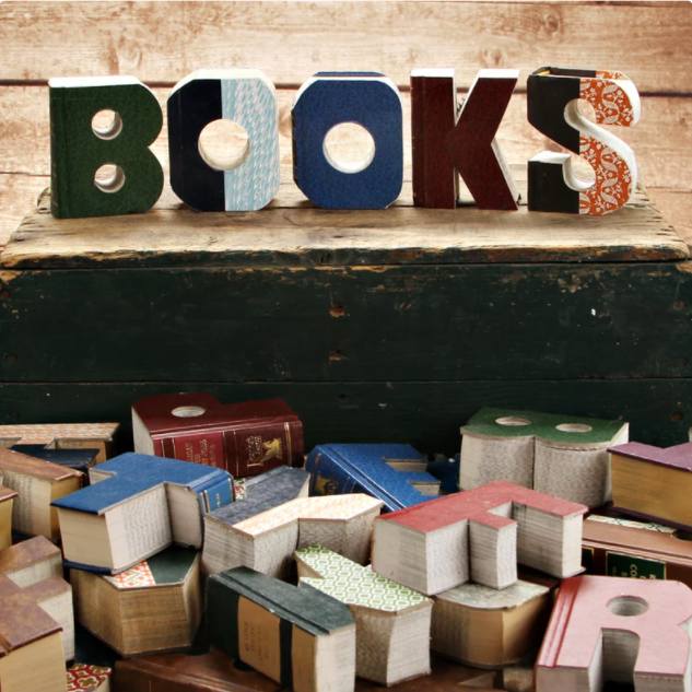 Decorative Book Letters