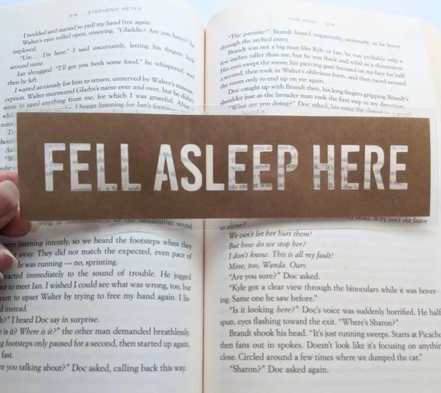 Fell Asleep Bookmark