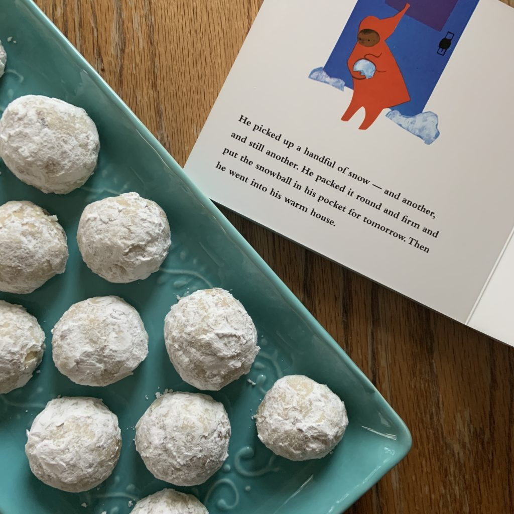 Snowball Cookies inspired by The Snowy Day