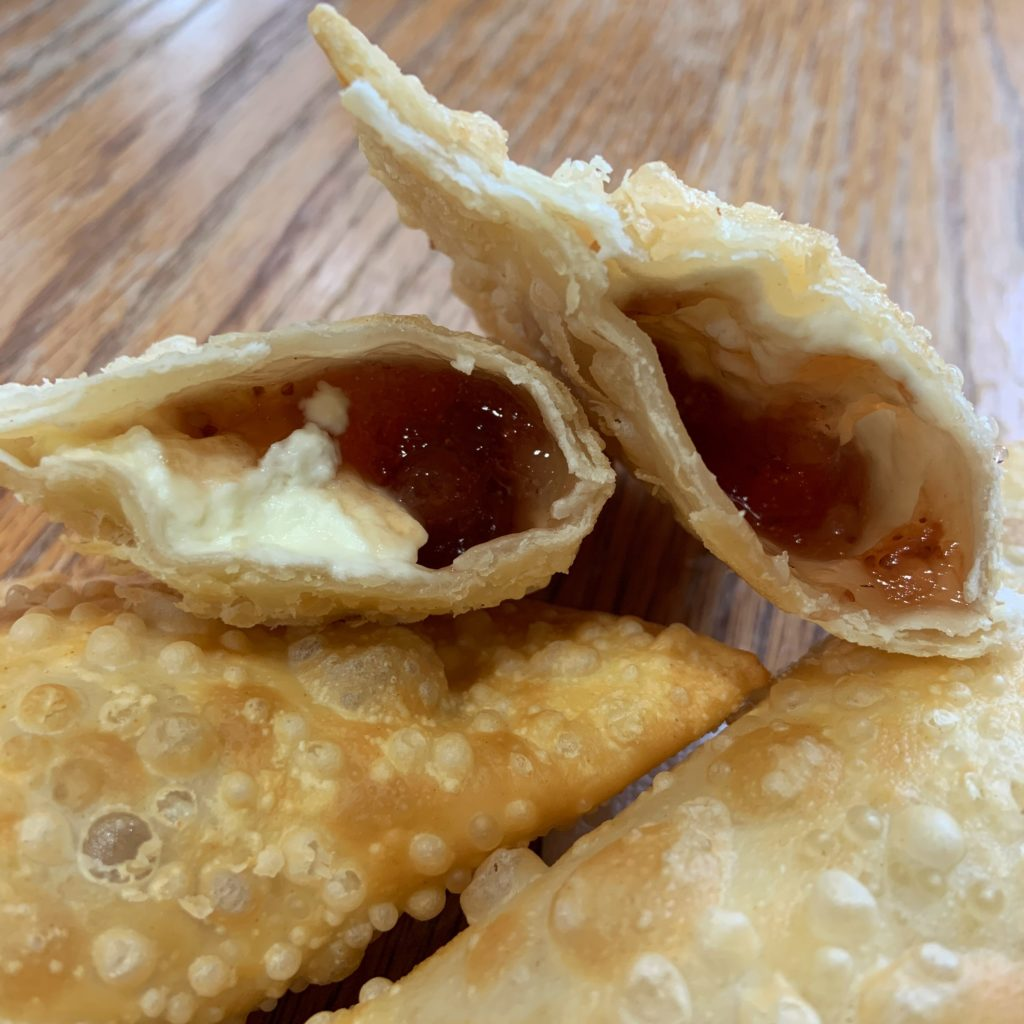 Strawberry and cream cheese empanadas
