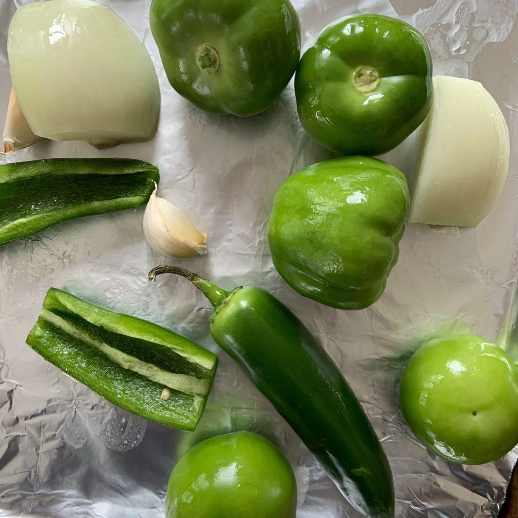 Vegetables for Tomatillo Salsa