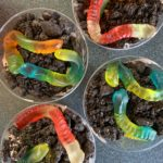 """Dirt"" Pudding Cups with Worms"